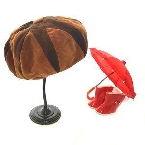 Vintage Marida Made In London 2-Tone Brown Beret